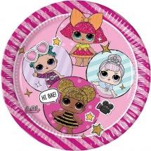 Набор тарелок Куклы ЛОЛ Кокетки 20 см, 8 шт