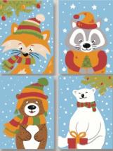 Картины по номерам Polly Новогоднее настроение 20х15 см 4 шт