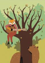 Картина по номерам Polly Лесная песнь 20х15 см