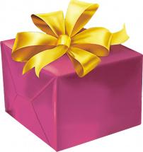 Упаковка маленького подарка до 25 см с бантиком 1,8 см