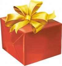 Упаковка среднего подарка до 40 см с бантиком 3 см