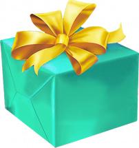Упаковка большого подарка от 40 см с бантиком (органза) 3-5 см