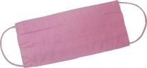 Маска защитная многоразовая, тканевая, хлопок, трехслойная, розовый