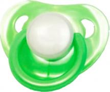 Пустышка Mepsi латекс круглая с 0 мес, зеленый