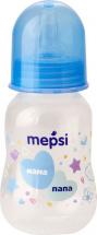 Бутылочка Mepsi Мама и папа 125 мл, синий