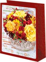 Пакет подарочный Желтые розы 18х23 см