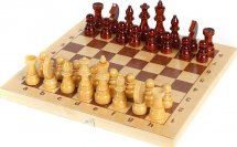 Шахматы Ладья-С гроссмейстерские деревянные фигурки с доской