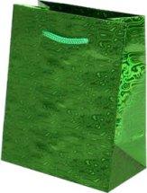 Пакет подарочный Голография-2 26х32 см, зеленый