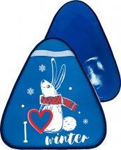 Ледянка Лидер Люблю зиму 42х48 см, темно-синий