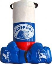 Детский боксерский набор Leosport №1, мешок 40х18 см, детские перчатки