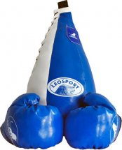 Детский боксерский набор Leosport №5, груша мешок 45х20 см, детские перчатки