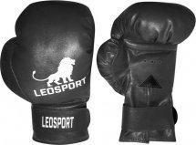 Перчатки боксерские Leosport Классика на липучке 8 унций, черный