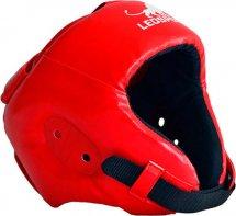 Шлем боксерский литой Leosport взрослый L, красный