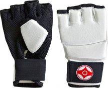 Перчатки для каратэ Киокуcинкай Leosport детские S натуральная кожа, белый