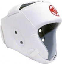 Шлем для каратэ открытый Leosport детский S экокожа, белый