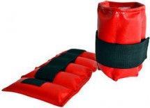 Утяжелители для рук и ног Leosport 2шт. х 0,7 кг M экокожа, красный