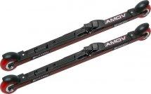 Комплект лыжероллеров Shamov 00-1, колесо: полиуретан 71 мм, для конькового хода, с креплениями Shamov N02 системы SNS