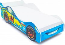 Комплект кровать-машина Тачка синяя и матрас Гармония Эконом Д10 160х70