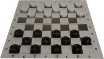 Набор шашки Ладья-С пластмассовые и шахматная доска картон 31х31 см