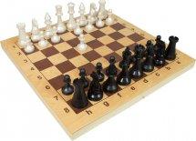 Шахматы Ладья-С пластмассовые в деревянной доске