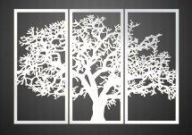 Настенное панно триптих Дерево белый 1060х750х3 мм