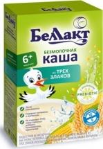 Каша Беллакт безмолочная 3 злака с 6 мес 200 г